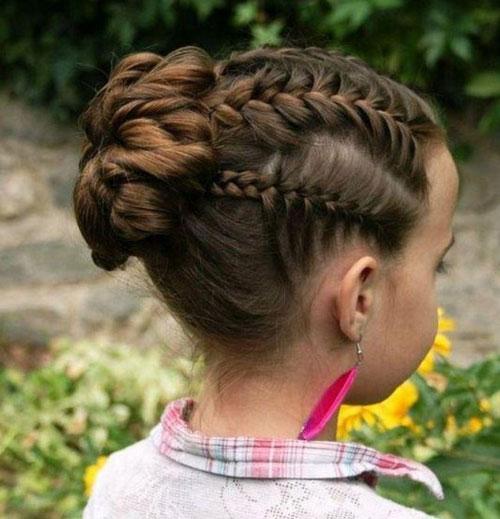 сложные прически на длинные волосы на 1 сентября 2
