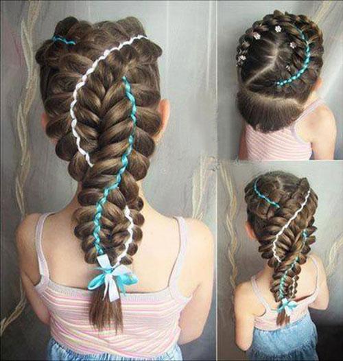 красивые прически для девочек на 1 сентября на длинные волосы