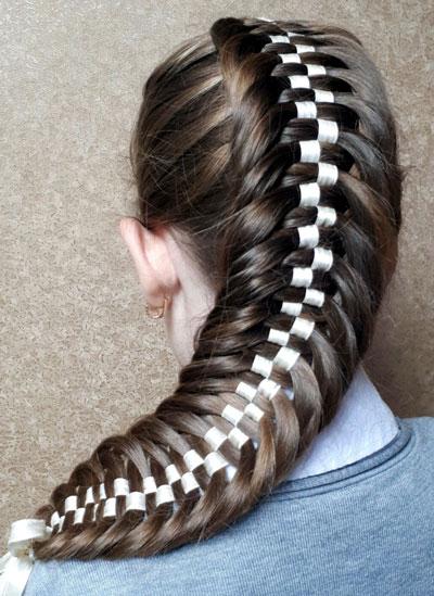 прически на 1 сентября длинные волосы