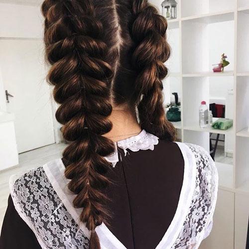 Прическа на 1 сентября длинные косы