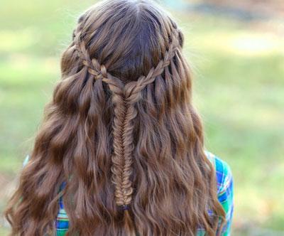Прическа на 1 сентября коса рыбий хвост