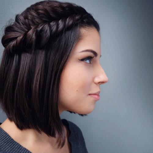 Прическа на короткие волосы на 1 сентября 11 класс