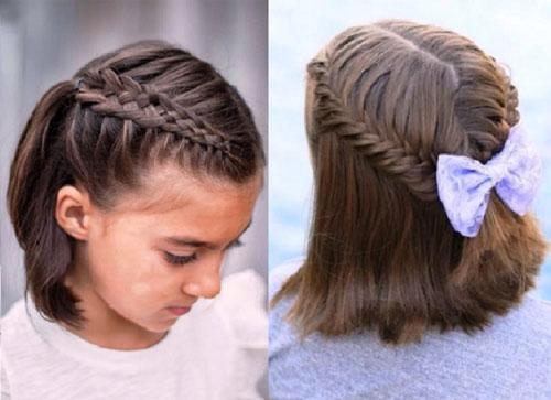 прически на первое сентября короткие волосы 1 класс 2