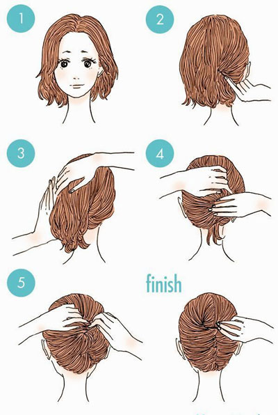 простые прически на 1 сентября на короткие волосы 2