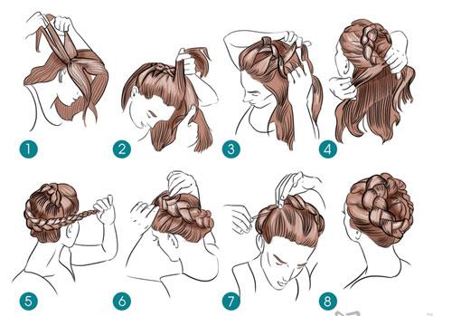 простые прически на 1 сентября на короткие волосы 4