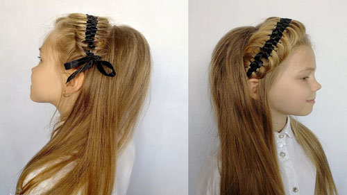 прически на 1 сентября на длинные волосы 10 класс