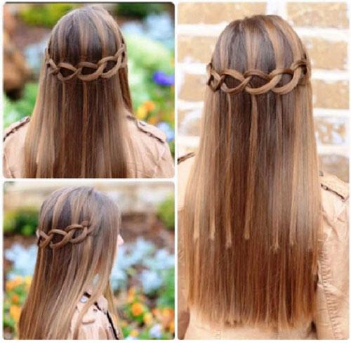 прически на 1 сентября на длинные волосы красиво