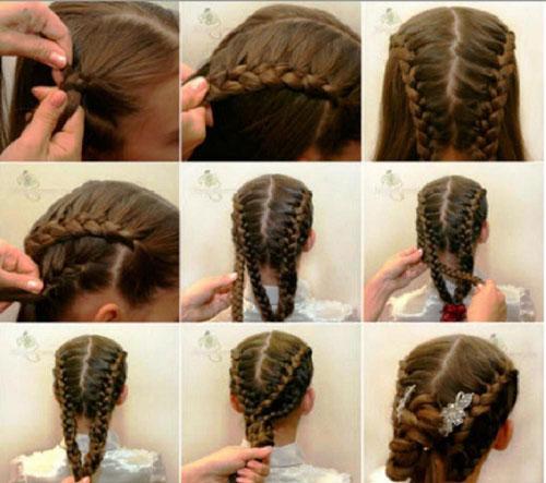 прически на 1 сентября на длинные волосы 7 класс
