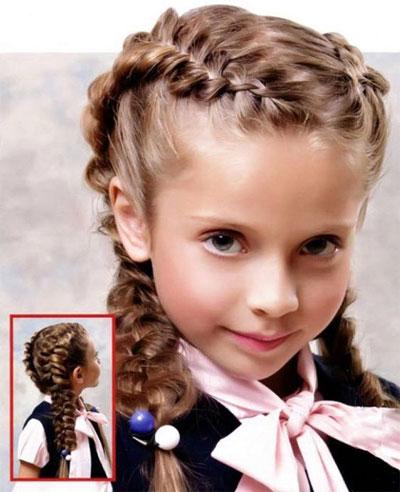 идеи прически на 1 сентября на длинные волосы 9