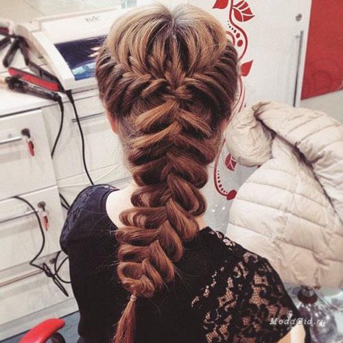 прически на длинные волосы в школу 7 класс