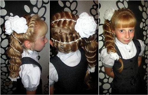 прически на длинные волосы в школу красиво