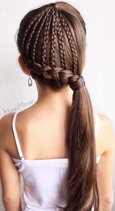 прически на длинные волосы в школу простые и красивые