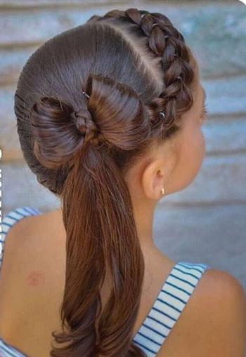 какую прическу сделать на 1 сентября в школу на длинные волосы