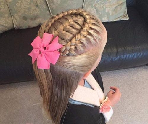 идеи прически на 1 сентября на длинные волосы 3