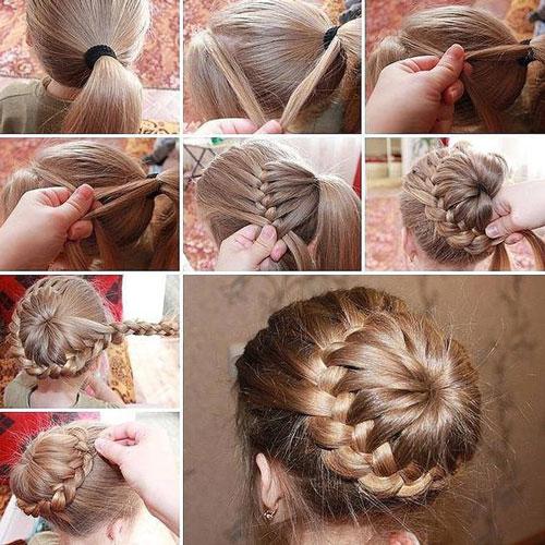 идеи прически на 1 сентября на длинные волосы 4