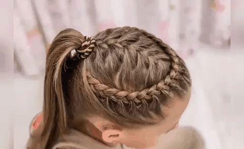 идеи прически на 1 сентября на длинные волосы 7