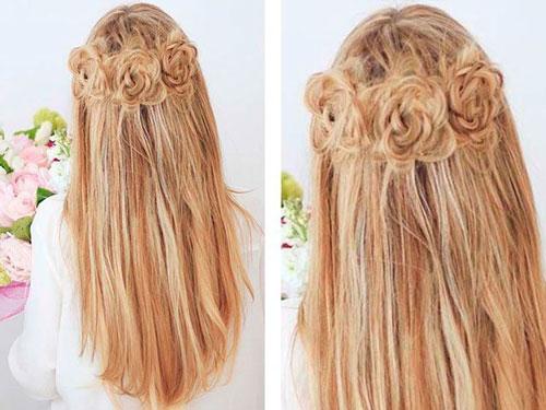 прически на длинные волосы на 1 сентября 11 класс