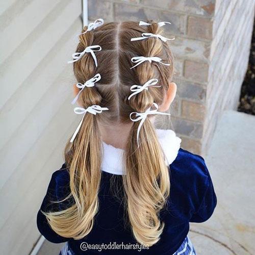 прически на длинные волосы в школу 4 класс