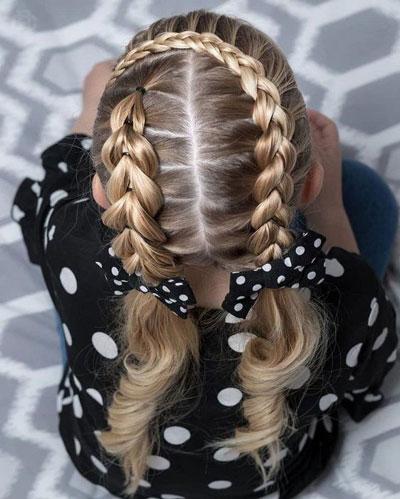 прически на длинные волосы в школу 5 класс