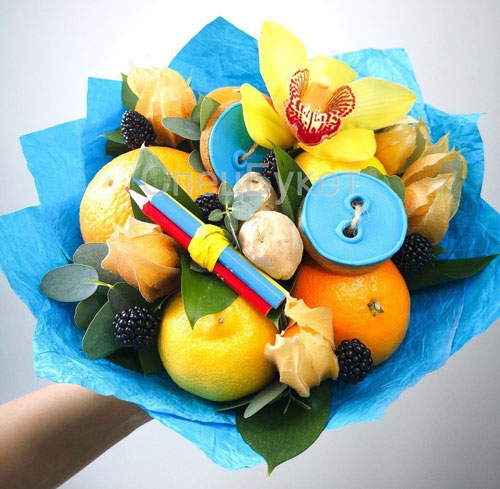 фруктовый букет учителю на 1 сентября в подарок