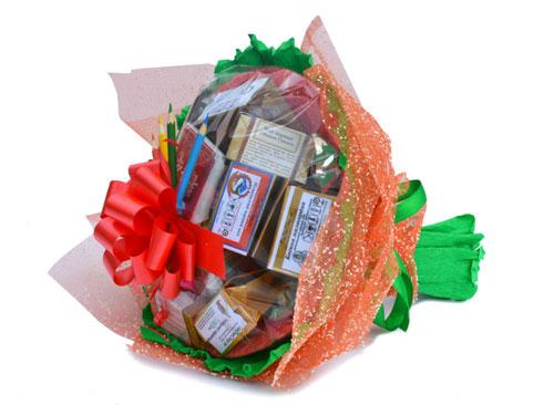 букет из конфет на 1 сентября учителю своими руками