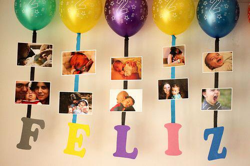 украшение фото ребенка комнаты на день рождения 3