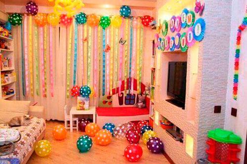 комната на детский день рождения 2