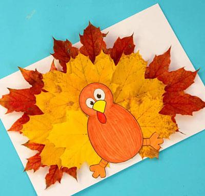 аппликация из листьев и бумаги на тему осень в школу 8