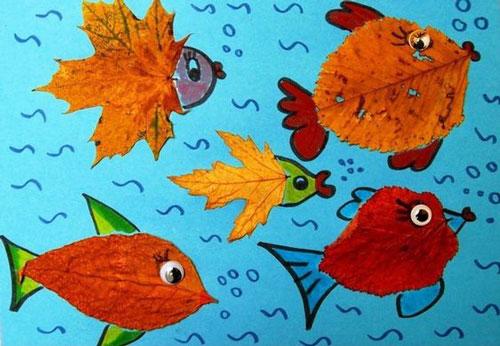 аппликация из листьев и бумаги на тему осень в старшей группе 6
