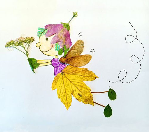 аппликация из листьев и бумаги на тему осень в старшей группе 4