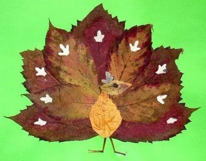 аппликация из листьев и бумаги на тему осень в старшей группе 3