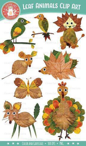 аппликация из листьев и бумаги на тему осень 4