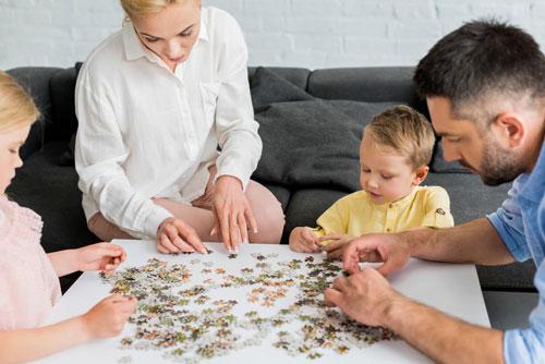 семейные занятия дома осенью