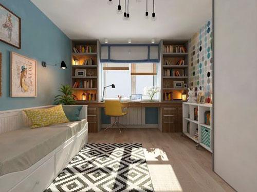 скандинавский стиль в интерьере детской комнаты