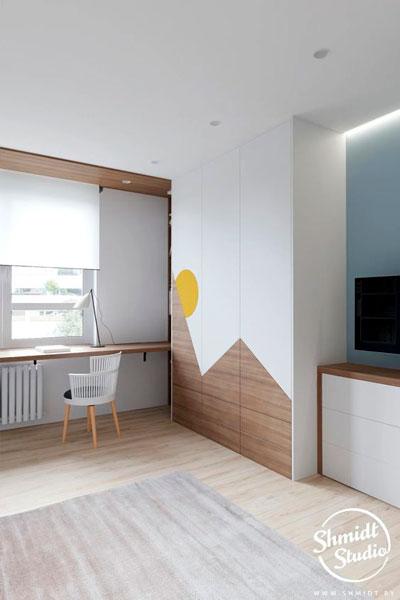скандинавский стиль в интерьере детской комнаты 3