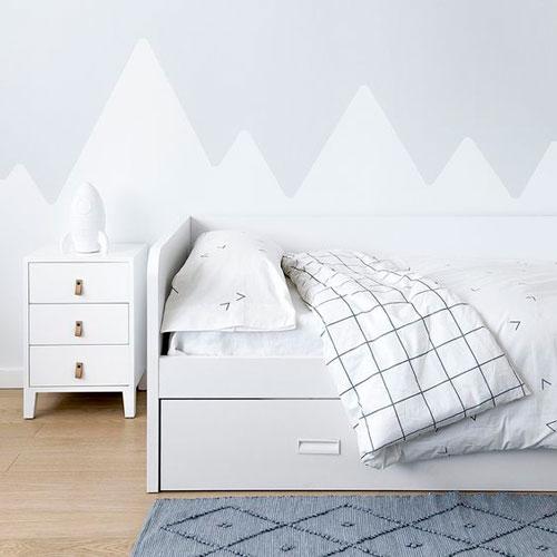 скандинавский стиль в интерьере детской комнаты 5