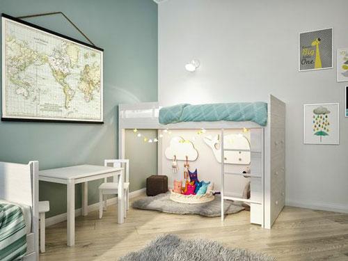 скандинавский стиль в интерьере детской комнаты 8