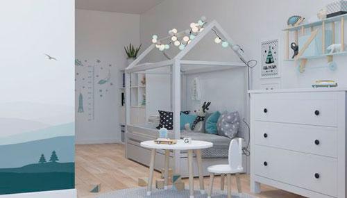 Детская комната в скандинавском стиле для двоих 5