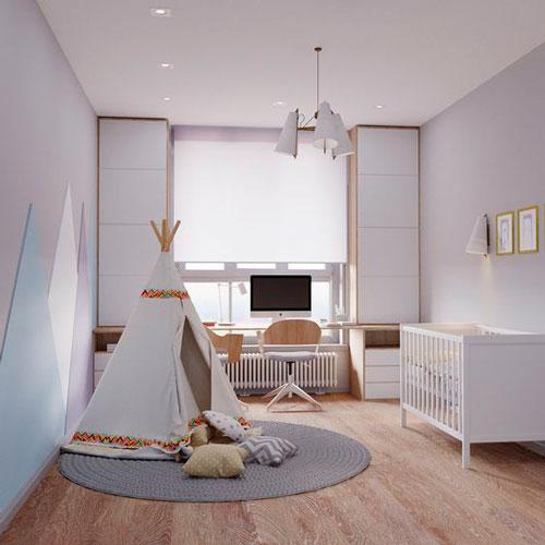 Детская комната в скандинавском стиле для двоих 8