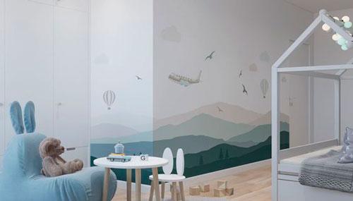 Детская комната в скандинавском стиле для двоих 10