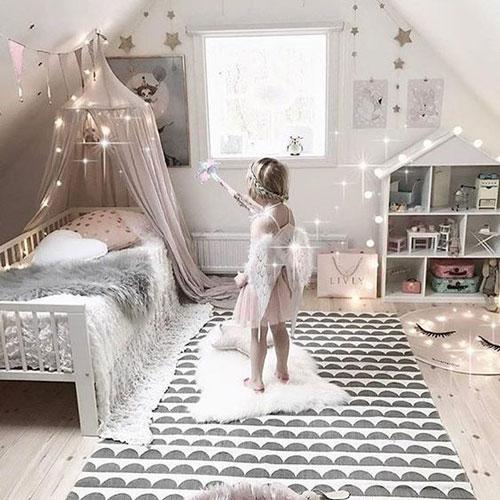 Детская комната в скандинавском стиле для девочки 6