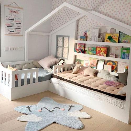 Детская комната в скандинавском стиле для девочки 7