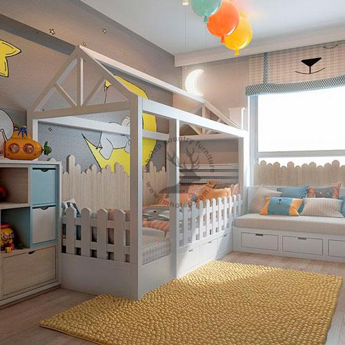 Детская комната в скандинавском стиле для девочки 8