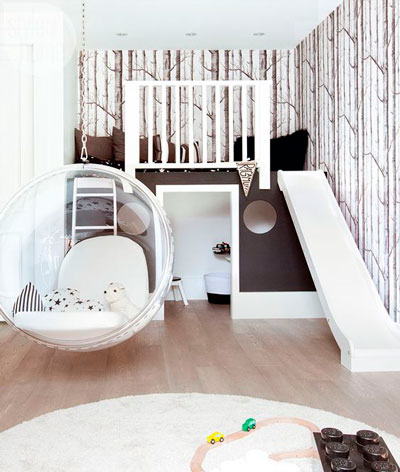 Детская комната в скандинавском стиле для девочки 9