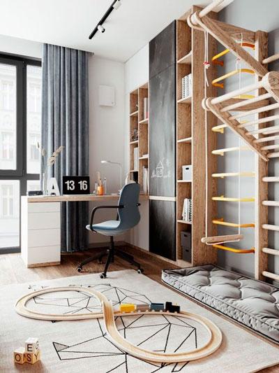 Детская комната в скандинавском стиле для мальчика 6