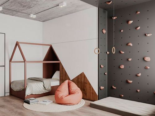 Детская комната в скандинавском стиле для мальчика 8