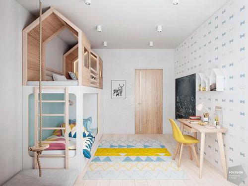 Детская комната в скандинавском стиле для подростка