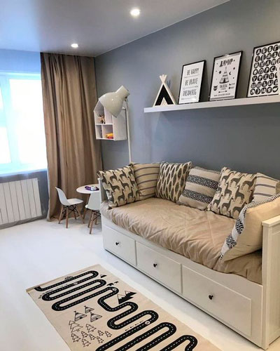 Детская комната в скандинавском стиле для подростка 2