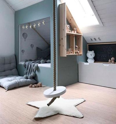 Детская комната в скандинавском стиле для подростка 7