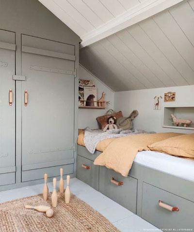 Детская комната в скандинавском стиле для подростка 8